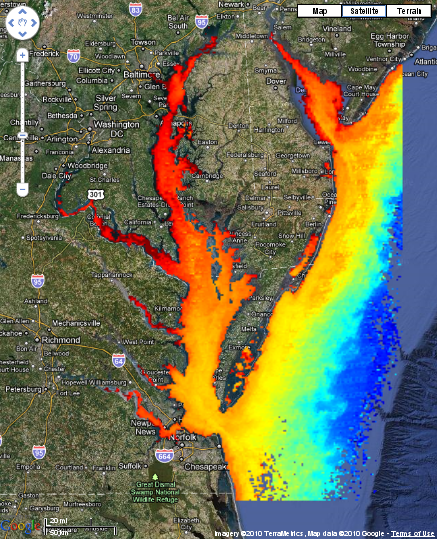 sample Chesapeake Bay chlorophyll image