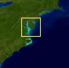 Chesapeake Bay region map