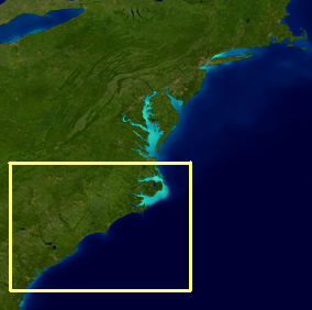 Carolina Coast region map